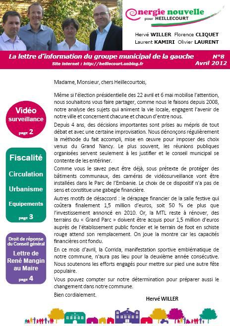 Lettre d'information aux Heillecourtois dans Actualité locale page1pub