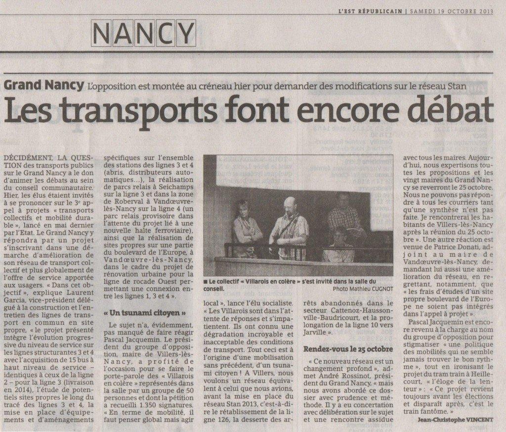 Grand Nancy : les transports font encore débat dans Actualité locale transportgn